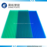 Замороженный лист толя карбоната полости голубого зеленого цвета поли