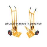 Chariot matériel en acier à main de plaque de pelle à approvisionnement d'usine
