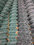 O engranzamento de fio que cerc, PVC da ligação Chain revestiu cercas da ligação Chain