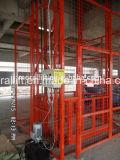 ガイド・レールの倉庫のエレベーターのセリウムが付いている油圧柵の上昇
