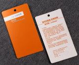 Напечатанная бумажная карточка Hang с отверстием
