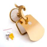 De Houder van het Toiletpapier van het Messing van de Toebehoren van de badkamers met Geplateerde Gouden en Geschilderd