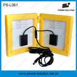 Luz solar recarregável da lanterna do diodo emissor de luz da bateria acidificada ao chumbo 9 de 6V 4500mAh com carregador do telefone e o painel 3.4W solar
