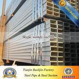 Grand dos ou pipes rectangulaires/carrées d'acier doux de pipes