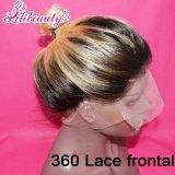 Frontal brasileiro do Blonde 360 do Weave 1b/613 de Ombre da onda do corpo do cabelo do Virgin