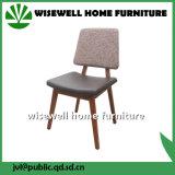 Tela Home de madeira da mobília da cinza contínua que janta a cadeira (W-DC-06)