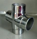 Connettore del tubo del corrimano dell'acciaio inossidabile, a quattro vie