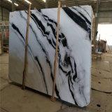 Мрамор панды белый с черными плитками стены вен