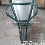 Populäre Russland-grüne Aufbau-Schubkarre (WB6418T)