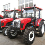 75HP 4WD Farm Tractors avec Front Loaders et Backhoe