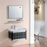 An der Wand befestigter Edelstahl-Badezimmer-Schrank mit Spiegel