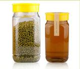 Choc en verre/conteneur en verre/choc en verre de miel/choc en verre d'encombrement/choc de nourriture/choc de maçon/choc d'épice
