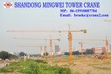 Caricamento massimo del fornitore Tc5516 della Cina della gru a torre di alta qualità di Mingwei: lunghezza del fiocco 8t/: caricamento 55m/Tip: 1.6t