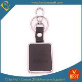 Anel chave ou corrente personalizada venda por atacado do couro da forma do logotipo da alta qualidade a preço da fábrica