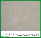 Parte superior de tabela de pedra do jantar de quartzo bege da cor