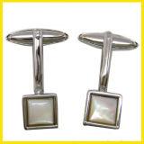 Het zilver plateerde Klassieke Vierkante Cufflink van de Arduinsteen