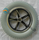 Roda elétrica da cadeira de rodas da roda do raio da roda da espuma do plutônio 330*59