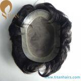 Sistema da recolocação do cabelo dos homens indianos do cabelo humano