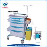 Einfache bewegliche Krankenhaus medizinische ABS Emergency Laufkatze mit Stoss-Griff