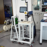 Máquina del laser de la fibra conveniente para el fabricante plástico que quiere a diseñar su propia insignia del producto