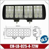 """14.4 """"72W Tres Filas Bar Luz LED para Industrial / Construcción (CH-LB-025-4-72W)"""