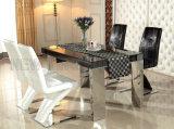 Dimensión de una variable blanca de cena moderna del cuero Z del cocodrilo de los muebles que cena la silla (NK-DC005)