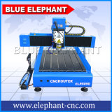 Router Desktop do CNC do elefante azul, router 3D do CNC 6090, mini máquina de estaca do CNC para anunciar