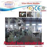 PVC WPC de PE jumeau parallèle de la vis pp granule la ligne de Productiion