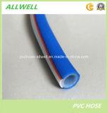 PVC 플라스틱 고압 유압 섬유에 의하여 강화되는 땋는 공기 살포 관 호스