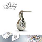 Кристалл Jewellery судьбы от Swarovski 925 серег стержня Wavvy мычки