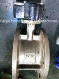 Hochleistungs--funktionieren doppeltes geflanschtes EPDM ausgekleidetes Drosselventil mit Getriebe
