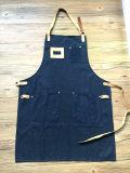 Avental barato feito sob encomenda da sarja de Nimes dos restaurantes da fábrica com couro