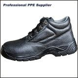 Zapatos de trabajo de acero de la seguridad de la punta y de la placa del alto corte