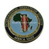 Moeda do desafio da lembrança da unidade feita sob encomenda de África a melhor