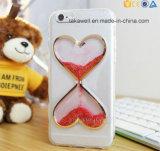 iPhone 5/5s/Se 덮개 케이스를 위한 싼 도매 3D TPU 액체 모래 반짝임 심혼 유형 유사 전화 상자