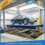 A auto placa de aço hidráulica Scissor o equipamento de levantamento do carro