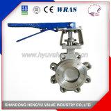 Тип клапан-бабочка волочения высокой эффективности нержавеющей стали с кронштейном