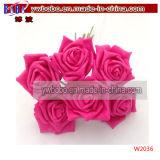 La novedad Fresh Cut Flowers Flor, Rosa, Decoración de Navidad (W2037)