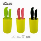 Kitchenware cerâmico para 5PCS Knife Set com Nonslip Block