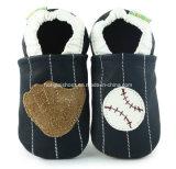 새로운 형식 디자인 가득 차있는 가죽 아기 신발
