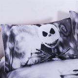 stellte reagierende gedruckte Zombie 3D Frighted Bettwäsche ein (Schwarzweiss)