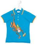 Camisa de polo impressa do menino da fábrica macaco encantador