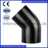 Accessori per tubi di drenaggio del sifone dell'HDPE montaggio dell'HDPE da 90 gradi con il controllo dei montaggi di drenaggio dell'HDPE del foro
