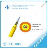 Câble plat plat de câble de fibre optique (GJDFBV) avec le faisceau 12