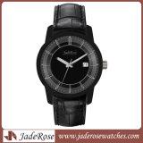 人及び女性の高品質の本革のステンレス鋼の腕時計