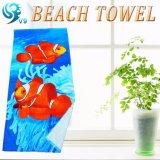 卸し売り長方形3Dプリントビーチタオル