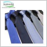 Cravate rayée de marine de sergé gris bleu de couleur rouge
