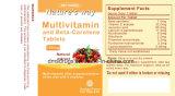 Tablettes de multivitamine et de bêta-carotène de médecine de Westren Westren Pharma pour l'être humain