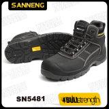 Laarzen Sn5480 van de Veiligheid van het Leer Nubuck van Ce de Gediplomeerde Zwarte