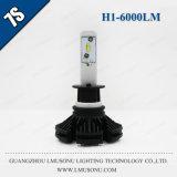Lmusonu LED車ライト7s H1 LEDヘッドライト25W 6000lmはIP67 Fanlessデザインを防水する